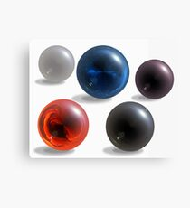 Colorful glossy spheres on white. Canvas Print