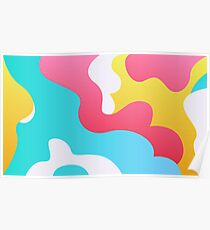 Abstract Shapes in Pastel Poster