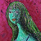 """The Green Girl by Belinda """"BillyLee"""" NYE (Printmaker)"""