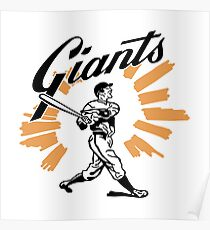 San Francisco Giants Schedule Art from 1958 Poster