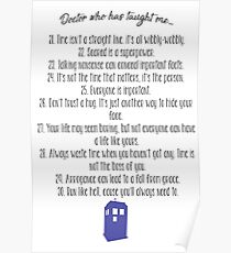Doctor Who has taught me... (21 - 30) Poster