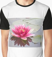 Pink water lily at the pond Graphic T-Shirt