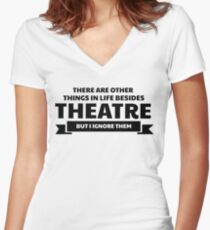 theatre Women's Fitted V-Neck T-Shirt