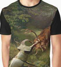 Stag Fight  Graphic T-Shirt