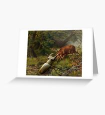 Stag Fight  Greeting Card