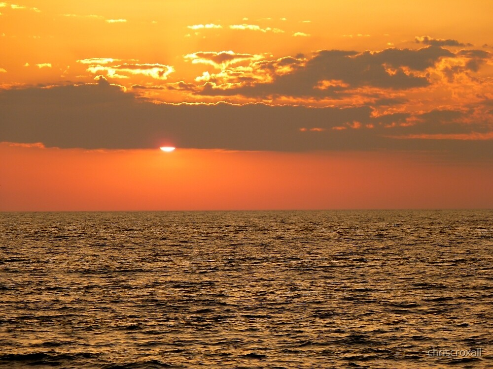 Sunset from Heraklion by chriscroxall