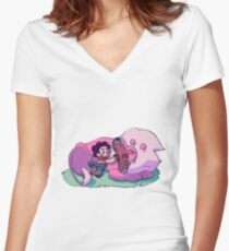 Sharing is Caring Women's Fitted V-Neck T-Shirt
