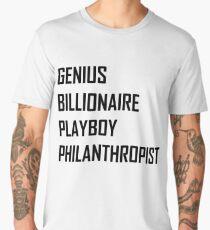 Genius, Billionaire, Playboy, Philanthropist Men's Premium T-Shirt