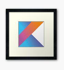 Kotlin logo Framed Print