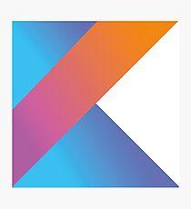 Kotlin logo Photographic Print