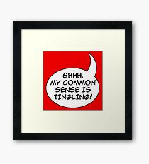 Common sense Framed Print