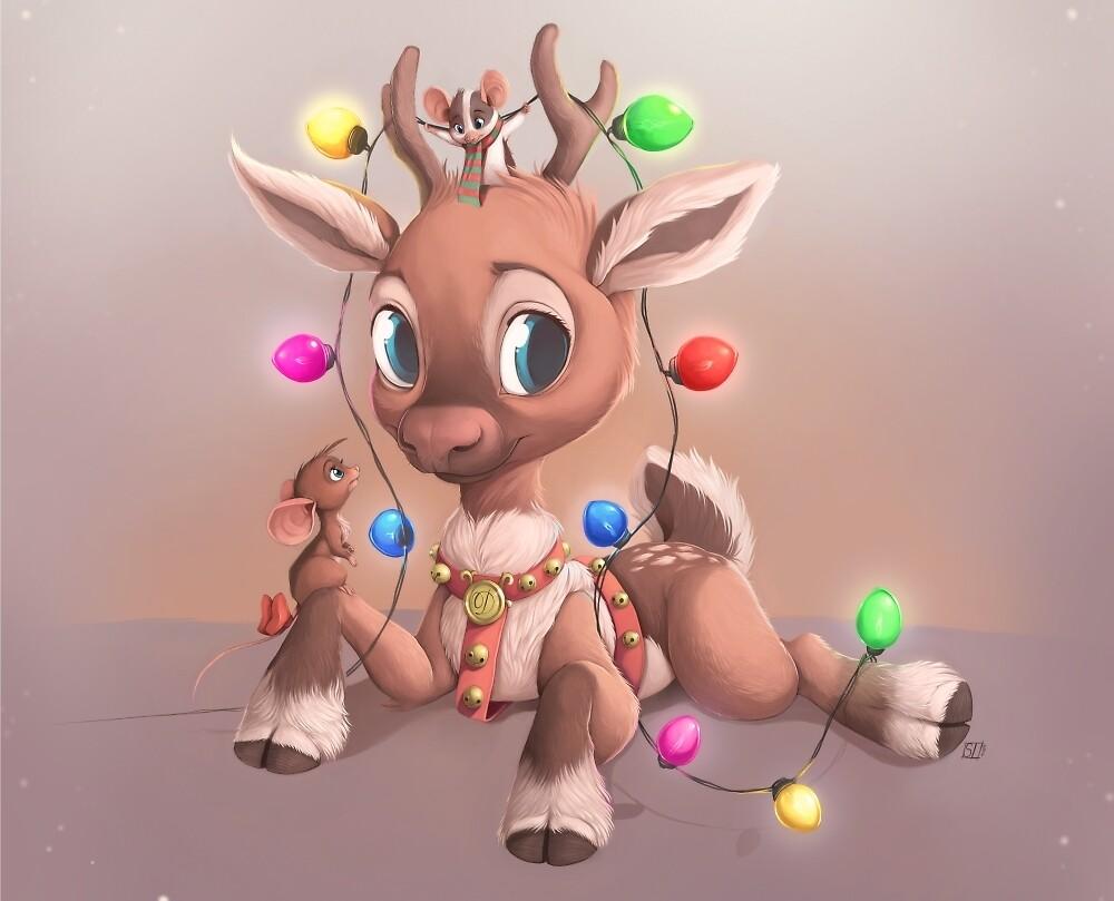 Dasher Reindeer by sammylewis