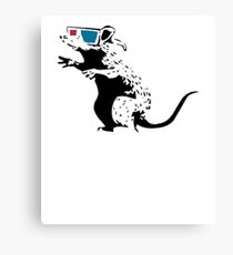Banky Inspired: Rats with 3D Glasses Canvas Print