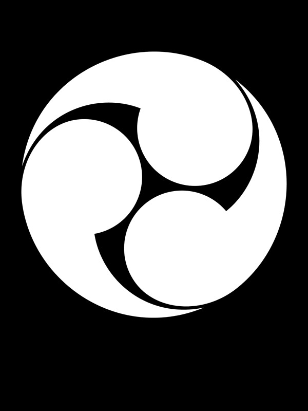 Japanese symbol for black, three men having sex with one woman