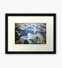 Topographic Framed Print