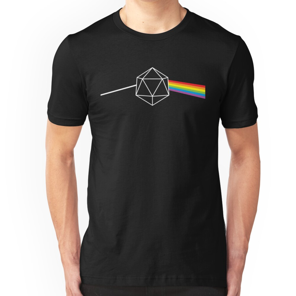 Dark Side of the Moon d20 Dungeon Master Slim Fit T-Shirt