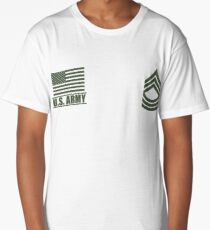 Master Sergeant Infantry US Army Rank Desert by Mision Militar ™ Long T-Shirt