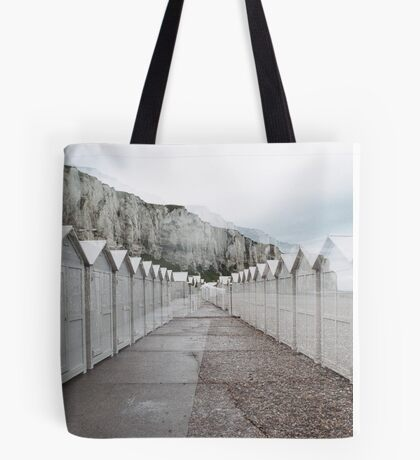 N°158: Double-exposure at the beach 2 Tote Bag