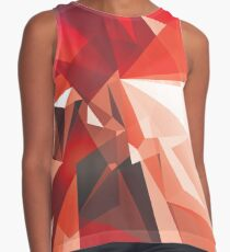 RED ABSTRACT GEOMETRIC SHAPES Contrast Tank