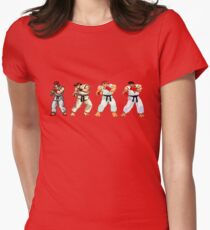 Street Fighter Ryu Womens Fitted T-Shirt