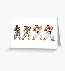 Street Fighter Ryu Greeting Card