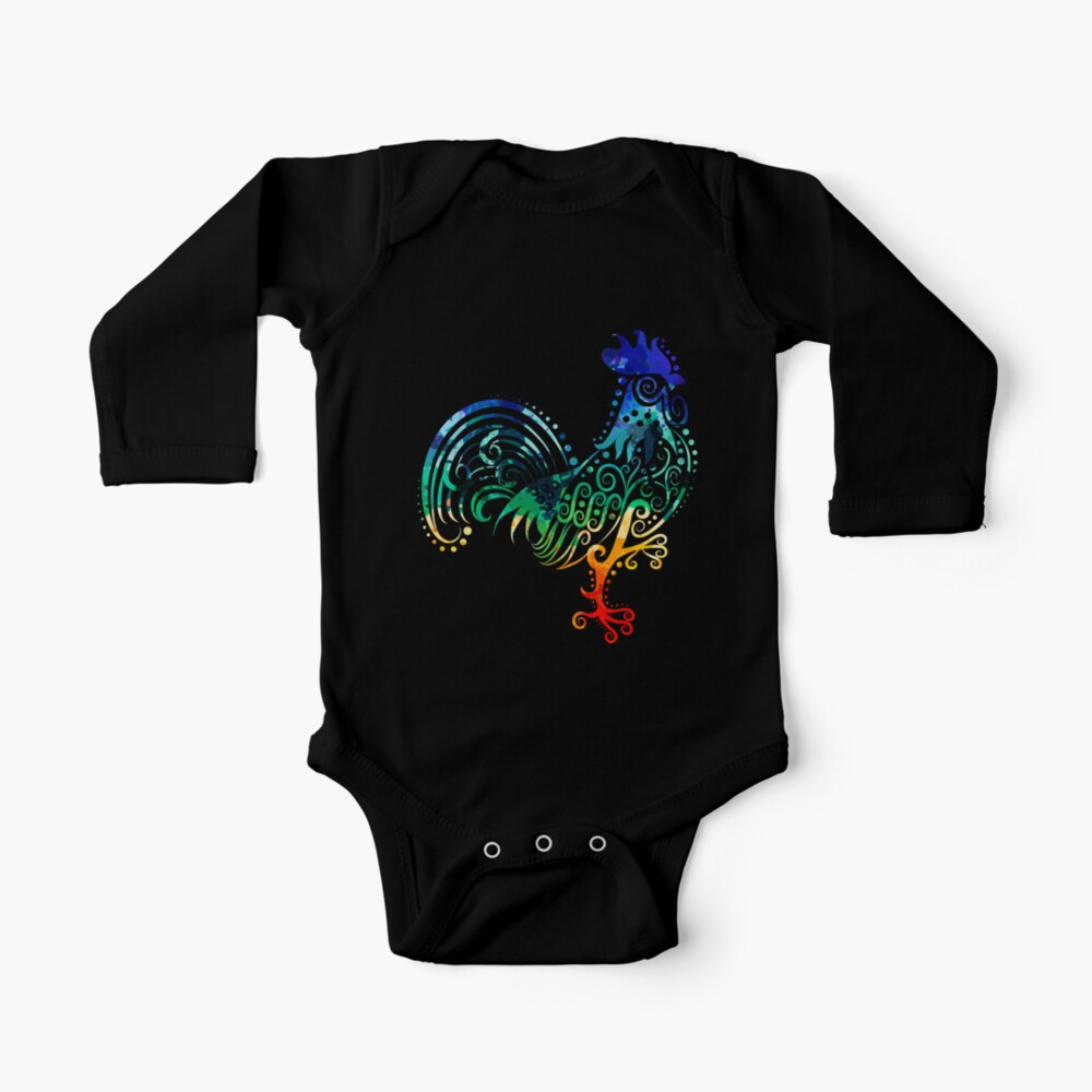 Inked Rooster Baby One-Piece