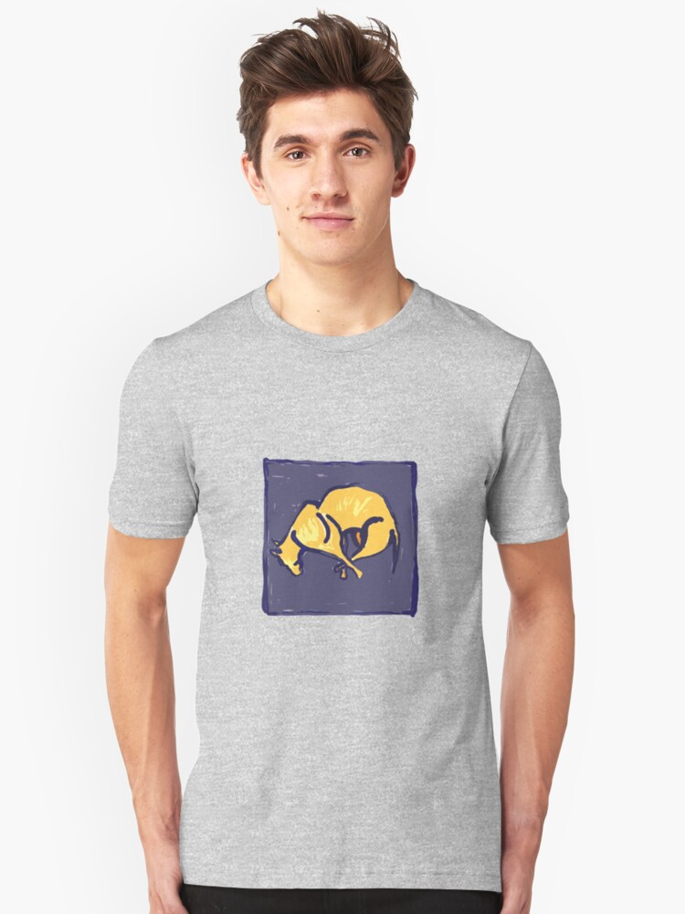TIRED OLD DOG AT NIGHT  Unisex T-Shirt Front
