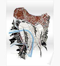 Basel Citymap Artwork   MISS BASEL #1 Poster
