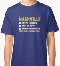 nashville predators  2017 western conference  champions Classic T-Shirt