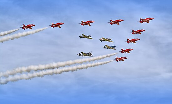 """Red Arrows And """"Eagle Squadron"""" Duxford 26.05.2013 by Colin  Williams Photography"""
