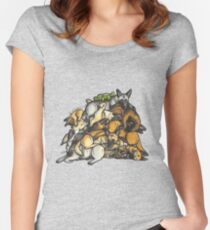 Sleeping pile of Malinois dogs Women's Fitted Scoop T-Shirt