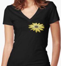 Flower Power Women's Fitted V-Neck T-Shirt