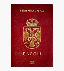 Serbian passport  Photographic Print