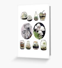 Succulent Fungi Greeting Card