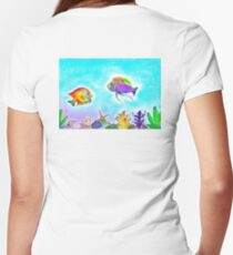 The underwater world Women's Fitted V-Neck T-Shirt