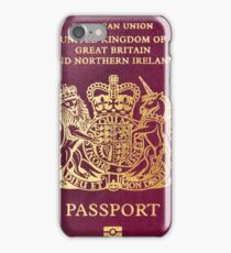 British passport  iPhone Case/Skin