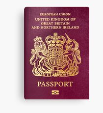 British passport  Canvas Print