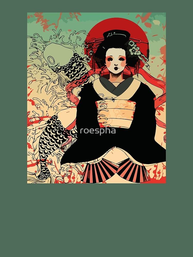 Geisha antique japan by Roes Pha