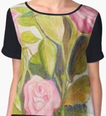 Late Spring Roses Chiffon Top