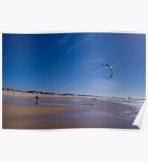 Kitesurfer Gamboa Beach Peniche Portugal Poster