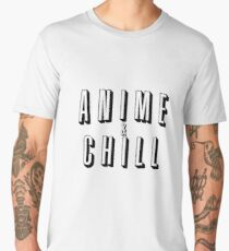 Anime & Chill Men's Premium T-Shirt