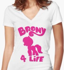 Brony 4 Life - T-shirt Women's Fitted V-Neck T-Shirt