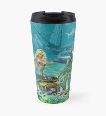 Mermaid's Coral Reef Treasure Travel Mug