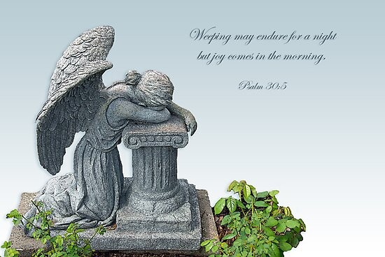 Weeping may endure for a night but joy comes in the morning.  by Bonnie T.  Barry