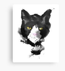 sumi cat Canvas Print