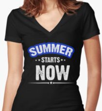 Summer Starts Now Women's Fitted V-Neck T-Shirt