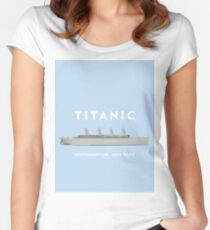RMS Titanic Cruiser boat Women's Fitted Scoop T-Shirt