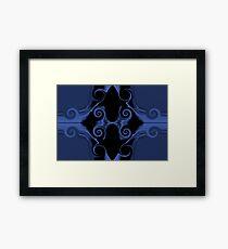 blue sword handle Framed Print