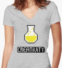 Creativity potion Women's Fitted V-Neck T-Shirt