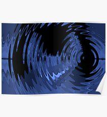 blue ripple Poster